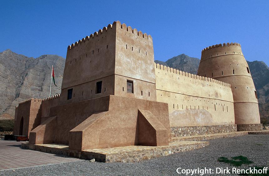 Oman, Musandam-Halbinsel, Fort in Bukha
