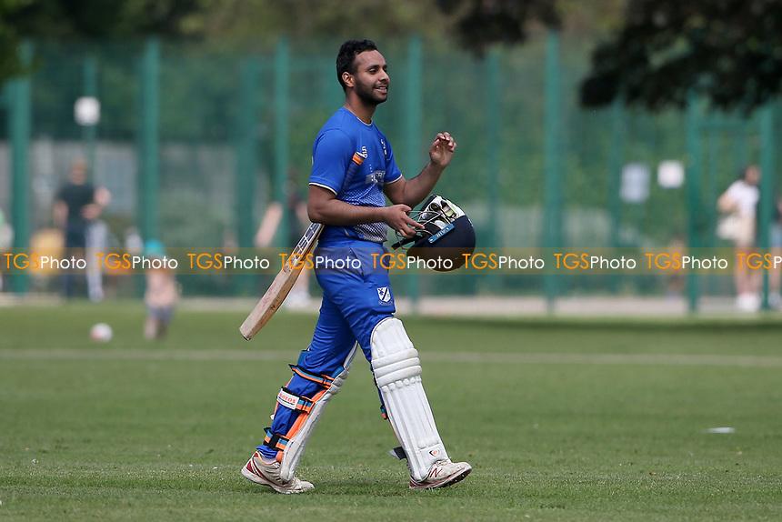 P Gupta of Upminster leaves the field having been dismissed during Upminster CC vs Fives & Heronians CC, Hamro Foundation Essex League Cricket at Upminster Park on 5th June 2021