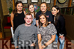 Alison Moriarty from Tralee celebrating her birthday in the Mall Tavern on Saturday.<br /> Seated: Alison Moriarty and Fionn Coakley.<br /> Back l to r: Ellen Daly, Aoife O'Shea, Shauna Dobbelaar and Sofia Samy.