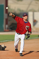 April 17, 2010: Ross Seaton of the Lancaster JetHawks before game against the Rancho Cucamonga Quakes at Clear Channel Stadium in Lancaster,CA.  Photo by Larry Goren/Four Seam Images