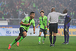 Leonardo Rodriguez Pereira of Jeonbuk Hyundai Motors (KOR) celebrates after scoring a goal against Al Ain (UAE) during their 2016 AFC Champions League Final 1st Leg match at Jeonju World Cup Stadium on 19 November 2016, in Jeonju, South Korea. Photo by Victor Fraile / Power Sport Images