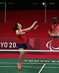 Olivia Meier competes in badminton at the 2020 Paralympic Games in Tokyo, Japan-09/2/2021-Photo Scott Grant