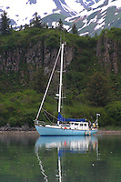 """Sailing in waters off the Alaskan Peninsula, in good weather, is a very pleasant way to experience the Katmai Coast. The """"Dutch Baby"""" was home for us for 6 days as we explored cove after cove."""
