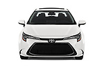 Car photography straight front view of a 2020 Toyota Corolla XLE 4 Door Sedan