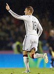 Germany's Kroos celebrates goal during international friendly match.November 18,2014. (ALTERPHOTOS/Acero)