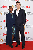 Michaela Coel and Andrew Buchan<br /> at the announcement of the nominations for the BAFTA TV Awards 2017, London.<br /> <br /> <br /> ©Ash Knotek  D3246  11/04/2017
