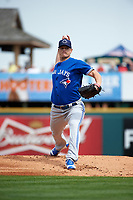 Toronto Blue Jays pitcher Gavin Floyd (39) delivers a pitch during a Spring Training game against the Pittsburgh Pirates on March 3, 2016 at McKechnie Field in Bradenton, Florida.  Toronto defeated Pittsburgh 10-8.  (Mike Janes/Four Seam Images)