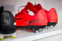 Kit room boots <br /> Re: Behind the Scenes Photographs at the Liberty Stadium ahead of and during the Premier League match between Swansea City and Bournemouth at the Liberty Stadium, Swansea, Wales, UK. Saturday 25 November 2017