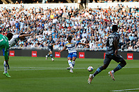 SAINT PAUL, MN - JULY 3: Cade Cowell #44 of the San Jose Earthquakes scores a goal during a game between San Jose Earthquakes and Minnesota United FC at Allianz Field on July 3, 2021 in Saint Paul, Minnesota.
