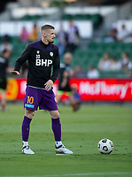 27th March 2021; HBF Park, Perth, Western Australia, Australia; A League Football, Perth Glory versus Newcastle Jets; Andy Keogh of Perth Glory during warm ups