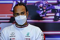 5th June 2021;  F1 Grand Prix of Azerbaijan. Press conference for 44 Lewis Hamilton GBR, Mercedes-AMG Petronas F1 Team, F1 Grand Prix of Azerbaijan at Baku City Circuit