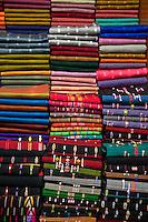 Myanmar, Burma, Mandalay.  Locally-produced Fabric.