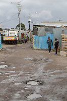 South Africa, Cape Town.  A Street in Guguletu Township.