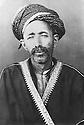 Iraq 1900.Suleimania: Sheikh Maruf Barzinji, father of Hafsa Khan  .Irak 1900 .Souleimania: Sheikh Maruf Barzinji, pere de Hafsa Khan