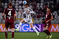 Adrien Rabiot of Juventus FC in action during the Serie A 2021/2022 football match between Torino FC and Juventus FC at Stadio Olimpico Grande Torino in Turin (Italy), October 2nd, 2021. Photo Federico Tardito / Insidefoto