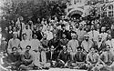 Syria 1927  In the Kurdish quarter of Damascus, at Omar Shemdin's place, the participants during the congress of Khoyboun : 5th on the left, 2 rank: Geladet Bedir Khan   Syrie 1927; Le quartiier kurde de Damas: dans la cour de la maison de Omar Shemdin, les participants au congres de Khoyboun: 5 eme à gauche, 2 eme rang,  Geladet Bedir Khan