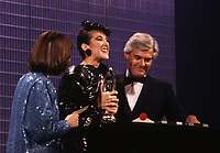Montreal (Qc) CANADA - File Photo - October 1985 - Celine Dion at the 1985 ADISQ Gala wher she received two Felix awards.<br /> <br /> -Photo (c)  Images Distribution