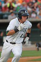 Lexington Legends infielder Matt Duffy #13 at bat for the Southern division team in the South Atlantic League All-Star game held at the Joseph P. Riley Jr.Ballpark in Charleston, South Carolina on June 19th, 2012. The Northern division defeated the Southern division by the score of 3-2. (Robert Gurganus/Four Seam Images)