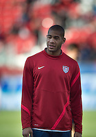 03 June 2012: US Men's National Soccer Team defender Oguchi Onyewu #5 in action during the warm-up in an international friendly  match between the United States Men's National Soccer Team and the Canadian Men's National Soccer Team at BMO Field in Toronto..The game ended in 0-0 draw..