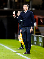 23rd September 2021;  Tannadice Park, Dundee, Scotland: Scottish League Cup football, Dundee United versus Hibernian: Jack Ross Hibernian Manager give instructions from the touch line