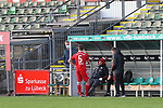 22.11.2020, Dietmar-Scholze-Stadion an der Lohmuehle, Luebeck, GER, 3. Liga, VfB Luebeck vs FC Bayern Muenchen II <br /> <br /> im Bild / picture shows <br /> Endstand 3:0, Nicolas Feldhahn (FC Bayern Muenchen II) steht alleine an der Bank<br /> <br /> DFB REGULATIONS PROHIBIT ANY USE OF PHOTOGRAPHS AS IMAGE SEQUENCES AND/OR QUASI-VIDEO.<br /> <br /> Foto © nordphoto / Tauchnitz