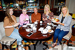Members of the Tralee Chain Gang supporting the Kerry Hospice in the Meadowlands Hotel on Thursday. L to r: Alannah McElligott, Deirdre Moore, Sheila Kelly, Avril Hewitt and Andrea O'Connor.