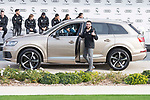 Daniel Carvajal of Real Madrid CF poses for a photograph after being presented with a new Audi car as part of an ongoing sponsorship deal with Real Madrid at their Ciudad Deportivo training grounds in Madrid, Spain. November 23, 2017. (ALTERPHOTOS/Borja B.Hojas)