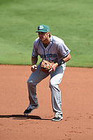 Daytona Tortugas third baseman Taylor Sparks (12) during a game against the Charlotte Stone Crabs on April 14, 2015 at Charlotte Sports Park in Port Charlotte, Florida.  Charlotte defeated Daytona 2-0.  (Mike Janes/Four Seam Images)