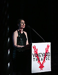 Suzanne Appel on stage during the Vineyard Theatre Gala 2018 honoring Michael Mayer at the Edison Ballroom on May 14, 2018 in New York City.