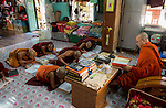 18 JUNE 2015, Mandalay, Myanmar:  969 activist Monk Wirathu during giving a lecture to other monks at his quarters in the Masoeyein Monastery in Mandalay, Myanmar. Picture Graham Crouch/The Australian Magazine