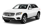 2018 Mercedes Benz GLC-Class GLC300 5 Door SUV Angular Front stock photos of front three quarter view