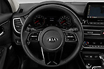 Car pictures of steering wheel view of a 2021 KIA Seltos SX 5 Door SUV Steering Wheel