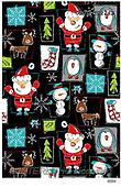 GIFT WRAPS, GESCHENKPAPIER, PAPEL DE REGALO, Christmas Santa, Snowman, Weihnachtsmänner, Schneemänner, Papá Noel, muñecos de nieve, paintings+++++,USGTTB2743,#gp#,#x# ,Lamont