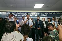 SÃO PAULO, SP, 02.01.2019: JOÃO DORIA FAZ VISITA TÉCNICA HOSPITAL PARELHEIROS -SP- O governador de São Paulo João Doria (PSDB), e o prefeito Bruno Covas, faz visita técnica ao Hospital Municipal de Parelheiros, nesta quarta-feira (02), no Hospital Municipal de Parelheiros Josanias Castanha Braga, na zona Sul da capital Paulista. ( Foto: Marivaldo Oliveira/Código19 )