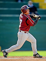 30 April 2008: University of Massachusetts Minutemen second baseman Adam Tempesta, a Junior from Brockton, MA, in action against the University of Vermont Catamounts at Historic Centennial Field in Burlington, Vermont. The Catamounts recorded a season-high 19 hits as they defeated the Minutemen 17-4 in their last NCAA non-conference game of the year...Mandatory Photo Credit: Ed Wolfstein Photo