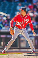 21 April 2013: Washington Nationals pitcher Zach Duke on the mound against the New York Mets at Citi Field in Flushing, NY. The Mets shut out the visiting Nationals 2-0, taking the rubber match of their 3-game weekend series. Mandatory Credit: Ed Wolfstein Photo *** RAW (NEF) Image File Available ***