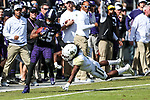 TCU Horned Frogs wide receiver KaVontae Turpin (25) in action during the game between the Baylor Bears and the TCU Horned Frogs at the Amon G. Carter Stadium in Fort Worth, Texas.