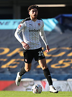 9th January 2021; Goodison Park, Liverpool, Merseyside, England; English FA Cup Football, Everton versus Rotherham United; Matt Crooks of Rotherham United runs with the ball