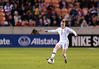 HOUSTON, TX - JANUARY 31: Emily Sonnett #2 of the United States dribbles during a game between Panama and USWNT at BBVA Stadium on January 31, 2020 in Houston, Texas.