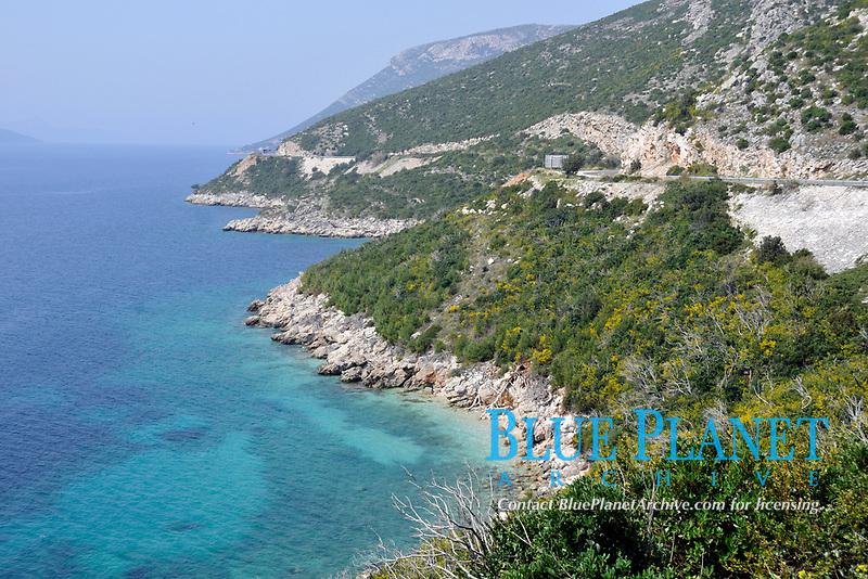 Dalmatian shoreline and Adriatic Sea near Dubrovnik, Croatia
