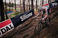 Eli Iserbyt (BEL/Pauwels Sauzen-Bingoal)<br /> <br /> Men's Race at the X2O Herentals Cross 2020 (BEL)<br /> <br /> ©kramon