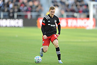 WASHINGTON, DC - MARCH 07: Julian Gressel #31 of D.C. United moves the ball during a game between Inter Miami CF and D.C. United at Audi Field on March 07, 2020 in Washington, DC.