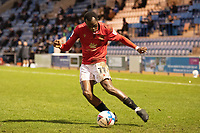 Carlos Mendes Gomes prepares to cross during Colchester United vs Morecambe, Sky Bet EFL League 2 Football at the JobServe Community Stadium on 19th December 2020
