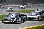 #4: Raphael Lessard, Kyle Busch Motorsports, Toyota Tundra Mobil 1, #2: Sheldon Creed, GMS Racing, Chevrolet Silverado Chevy Accessories