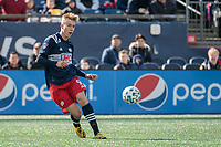 FOXBOROUGH, MA - MARCH 7: Adam Buksa #9 of New England Revolution during a game between Chicago Fire and New England Revolution at Gillette Stadium on March 7, 2020 in Foxborough, Massachusetts.