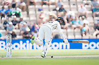 Devon Conway, New Zealand gets rapped on the pads and takes a leg bye during India vs New Zealand, ICC World Test Championship Final Cricket at The Hampshire Bowl on 23rd June 2021