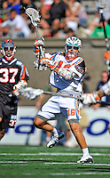 23 August 2008: Los Angeles Riptide Attackman Wes Green in action against the Denver Outlaws during the Semi-Finals of the Major League Lacrosse Championship Weekend at Harvard Stadium in Boston, MA. The Outlaws edged out the Riptide 13-12, advancing to the upcoming Championship Game.. .Mandatory Photo Credit: Ed Wolfstein Photo
