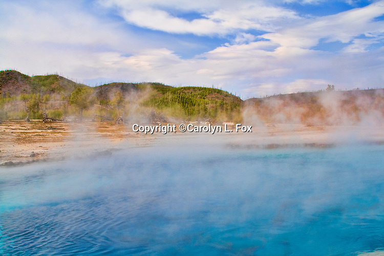 Grand Prismatic Spring, in Yellowstone National Park, is a beautiful location.