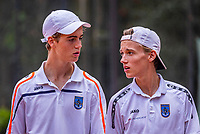 Hilversum, Netherlands, August 5, 2021, Tulip Tennis center, National Junior Tennis Championships 16 and 18 years, NJK, Boys Doubles 18 years, Rlorent Geenjaar (NED) and Timo de Visser (NED)<br /> Photo: Tennisimages/Henk Koster