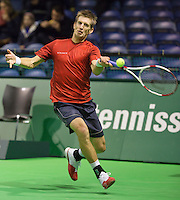 12-02-14, Netherlands,Rotterdam,Ahoy, ABNAMROWTT, Jarkko Nieminen(FIN)<br /> Photo:Tennisimages/Henk Koster